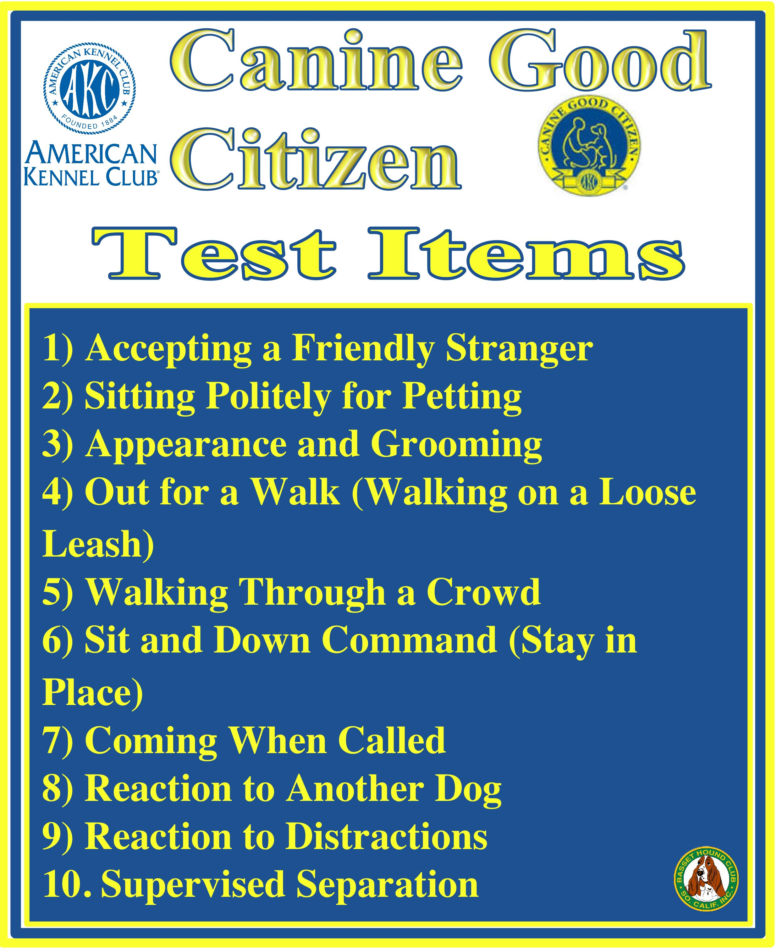 Good Citizen Dog Test